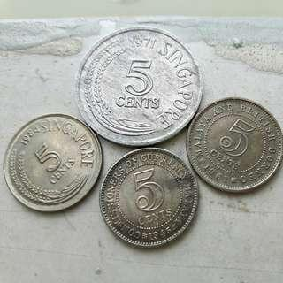 🚚 Old Singapore Coins and settlement coin