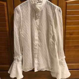 🚚 透膚白襯衫