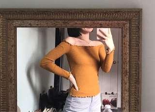 M Boutique Off the Shoulder Ruffled Top
