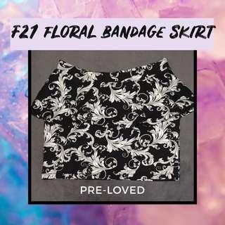 Forever 21 Floral Bandage Skirt Large