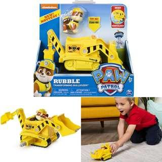 BNIB: Paw Patrol, Rubble's Transforming Bulldozer with Pop-Out Tools