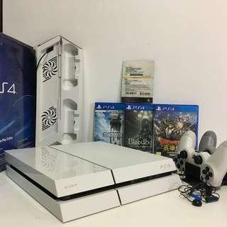 PS4 (CUH-1107A) 500G 白色含遊戲及配件