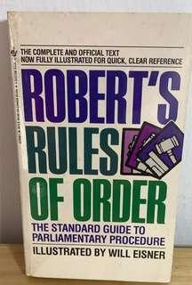 Robert's Rules of Order by Henry M. Robert III (Author), Daniel H. Honemann (Author), Thomas J. Balch (Author), Daniel E. Seabold (Contributor), Shmuel Gerber (Contributor)