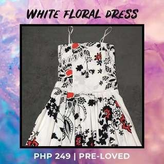 White Floral Dress from CLN