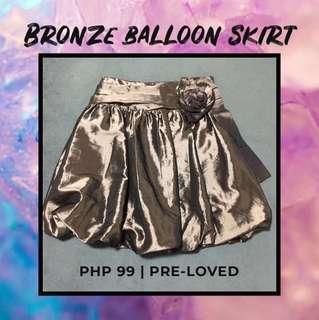 Bronze Balloon Skirt