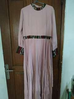 Gamis dusty pink