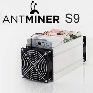 Antminer S9 cryptocurrency mining machine Bitcoin
