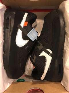 🚚 全新台灣官網貨 Air max 90 off white 童鞋 10c 16公分