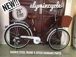 "New size!!!! 26"" city bike black"
