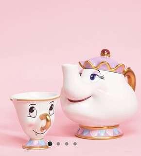 Disney Mrs Pott Tea Pot and Cup