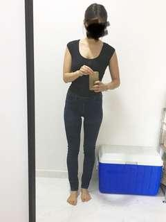 stretched easy Denim pants