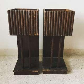 A Pair of Vintage Art Deco Flower Pot Holders