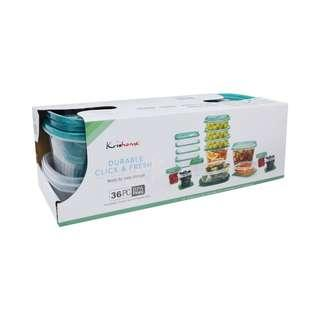 Krishome Set Wadah Makanan 36 Pcs