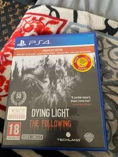 Kaset PS 4 Dying Light The folowing