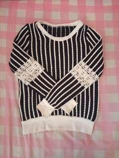Sweater Navy mix brokat