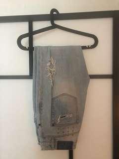 Ksubi ripped blue jeans size 27