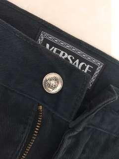 正品Versace 凡賽思 黑色直筒褲