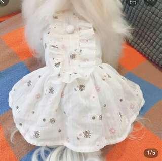 小狗裙。綿質。長30 橫19 只穿過兩次 因買大左