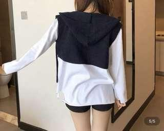 Cardigan type outfit