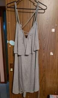 Boohoo Grey Swing Dress. Size 22