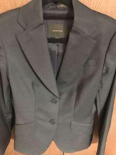 Pinstripe wool blazer
