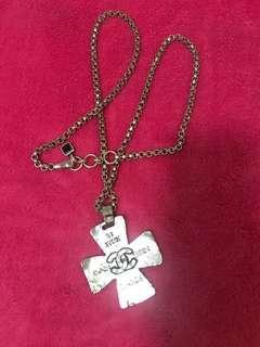 Authentic Chanel Vintage Cross Pendant Necklace