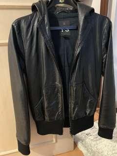 Y-3 Adidas Hooded Leather Jacket