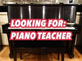 Looking For: Piano Teacher