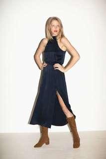 Zimmermann navy silk dress size 1 8-10