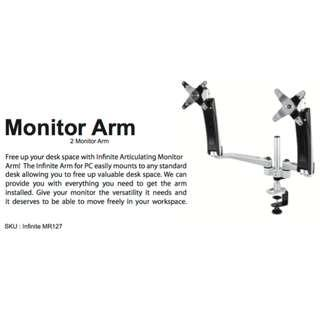 MONITOR ARMS - DUAL with Monitor  Bracket