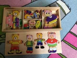 🚚 熊熊變裝木拼圖