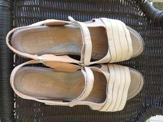 Naot Cream Sandal Shoe