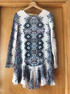 Free People boho short dress