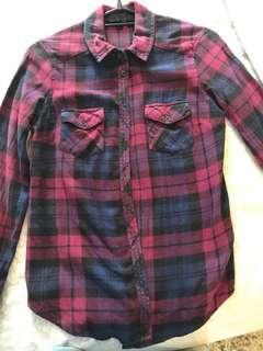 🚚 Topshop checked plaid shirt