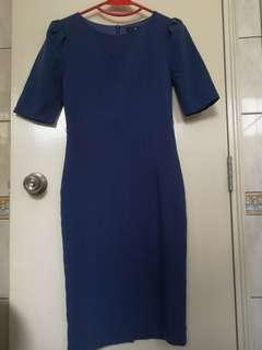 Doublewoot Blue Quarter sleeve dress