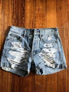 Bardot distressed shorts