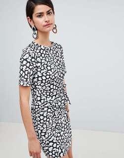 ASOS design mini dress with wrap skirt