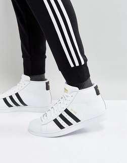 Adidas original superstar pro model白色高筒鞋 UK5
