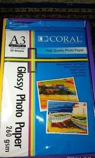 °Preloved° CORAL Glossy photo paper A3