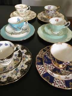 Royal Albert 6 Teacup & Plate Set