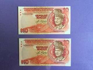 RM10 x 2 Run 4th Series UNC
