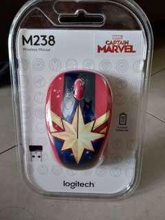 Logitech M238 MARVEL Wireless Mouse - Captain Marvel