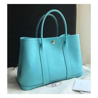Authentic Hermes Garden Party 30 Bag