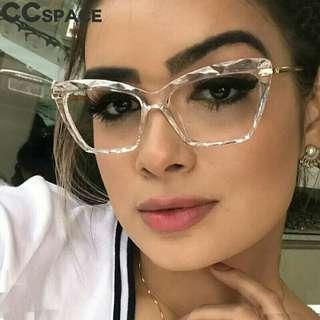 Fashion Women Cat Eye Eyeglasses Frame Men Optical Glasse Frame Retro Eyeglasses Computer Glasses Transparent glasses