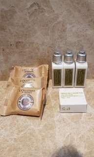 L'Occitane soap and lotion
