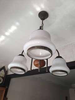 Antique brass ceiling lamp