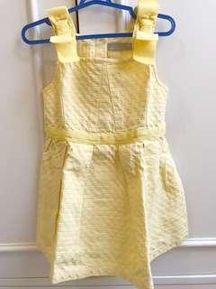 Gingersnaps tiny dress yellow size 24m