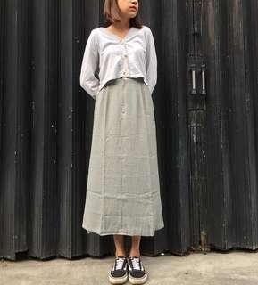 Gingham Long Skirt