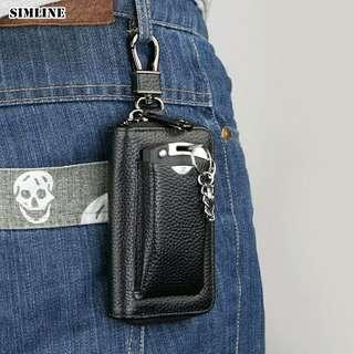 Key Wallet Men Male Car Key Holder Keys Organizer Housekeeper Card Holders Wallets Case Bag Pouch Zipper