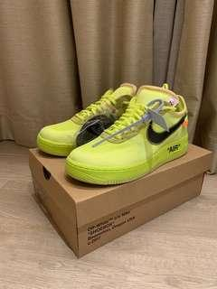 US9.5 Off White Air Force One Volt